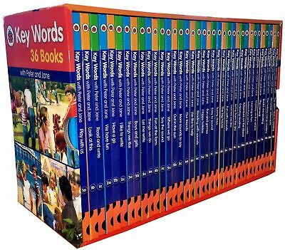 Ladybird Key Words with Peter and Jane Collection 36 Box Set NEW Hardback