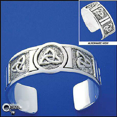 Triquetra  Pewter Trinity Knot Cuff Bracelet Celtic Charmed Symbol