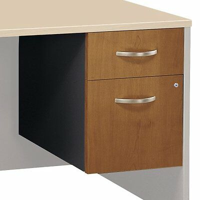 Bush Corsa Series 2 Drawer Lateral Wood File Storage Cabinet, Natural Cherry