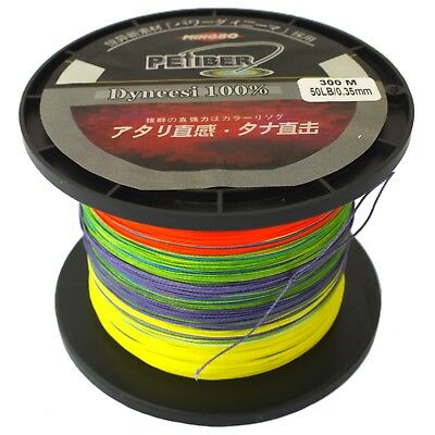 Pefiber 8 Strand Braid Fishing Line 50Lb 300M 5 Colour, Super Smooth Jigging