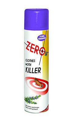 Zero In Clothes Moth Killer 300ml Natural Floral Scent Kills and Stops Moths