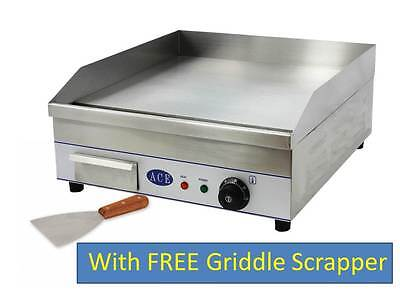 COMMERCIAL 50cm Electric HOTPLATE GRIDDLE 3KW AMAZING PRICE & FREE SCRAPER