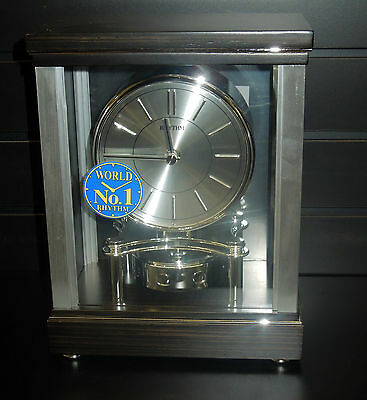 "Mantel Clock By Rhythm - ""Clarity""  Contemporary Clock Wooden Case Crg118R06"