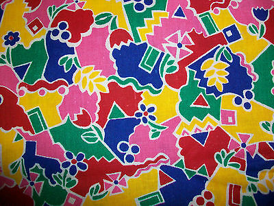 Bright Rainbow Of Color All Over Cotton Quilt  Fabric