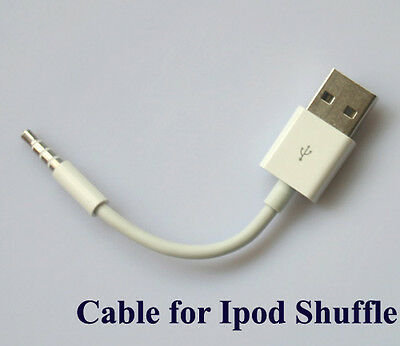 USB Port 3.5mm Jack Data Charger Sync Cable for Apple iPod Shuffle 3G 4G