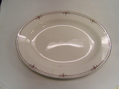 "Vintage Knowles Semi Vitreous China Platter #116 Oval 18"" x 13"" White USA"