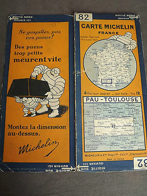 Carte michelin 82 pau toulouse 1928