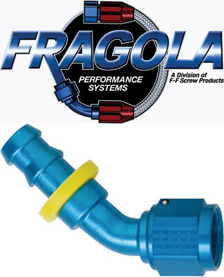 Fragola 231216-BL 16 AN Aluminum 120 Degree Socket Hose Fitting Black IMCA USRA