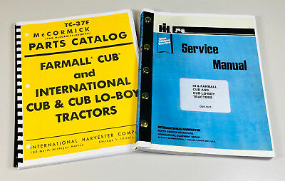 Farmall Cub Tractor Service And Parts Manuals Repair Ih International