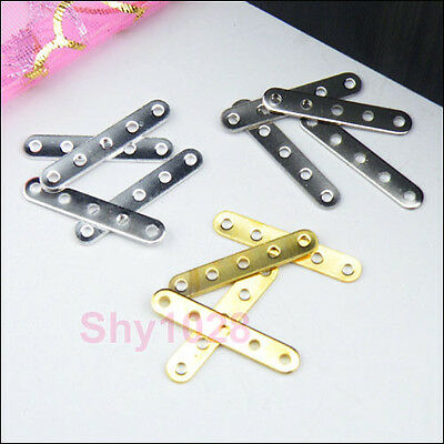 600Pcs 5-Holes Spacer Bar 3.5x20mm Silver,Gold,Dull Silver R5072-Wholesale
