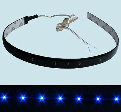 2pcs Blau Flexible Led Stripe 15 Leds 30cm Wasserdicht SMD f. Auto Biegsam 12V