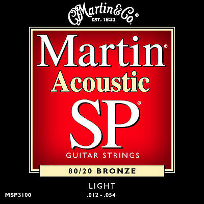 Martin SP Bronze Acoustic Guitar Strings MSP3100 80/20 Light 12 - 54 UK SELLER