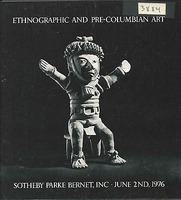 SOTHEBY'S PRE-COLUMBIAN AFRICAN OCEANIC ETHNOGRAPHIC ART Auction Catalog 1976