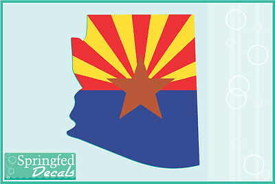 ARIZONA STATE SHAPED FLAG Vinyl Decal Car Truck Window Sticker CUSTOM SIZES!
