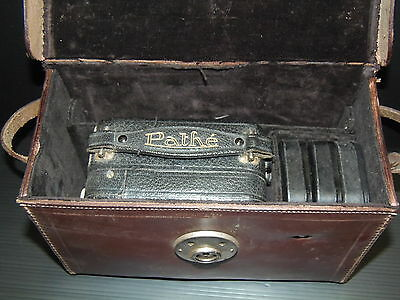 Belle Camera Pathe Baby Carl Zeis Jena 1930 Sacoche Cuir 5 Boites Pathex Films