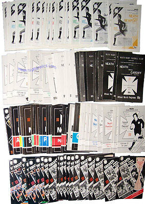 A COLLECTION OF 112 NEATH HOME RUGBY PROGRAMMES 1985/86 to 1989/90 SEASONS
