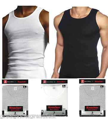 3 6 12 Mens 100% Cotton Ribbed A-Shirts Undershirts Wife Beater Tank Tops Lot