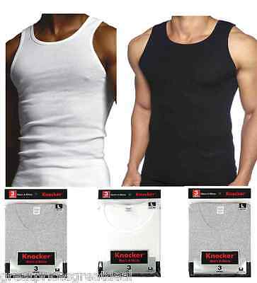 Lot 6 12 Mens 100% Cotton Ribbed A-Shirts Undershirts Wife Beater Tank Tops Pack
