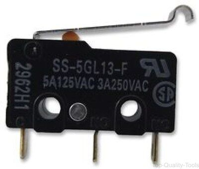 MICROSWITCH, 5A, SIM ROLLER, SPDT, Part # SS-5GL13-F