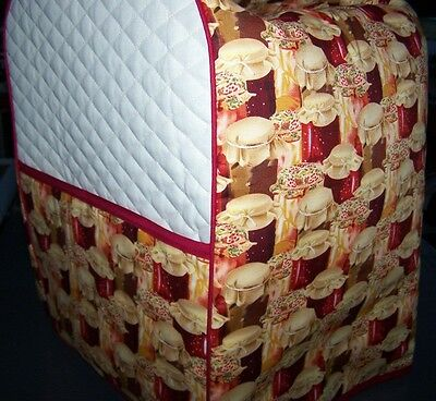 Canning Jelly Jars Quilted Fabric KitchenAid Mixer Cover NEW