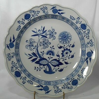 HUTSCHENREUTHER Bavaria china BLUE ONION Round Chop Plate Serving Platter 12 1/4