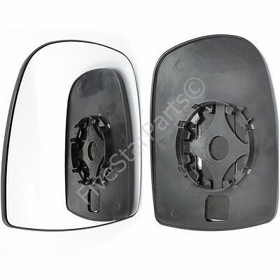 For Vauxhall Vivaro 01-14 Left Hand Passenger Side Wing Door Mirror Glass