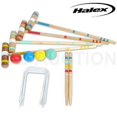 Halex Classic Croquet Set with Carry Bag Up to 4 Players