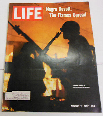 Life Magazine Revolt: The Flames Spread August 1967 062613R