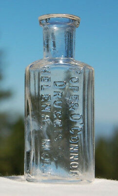 TINY antique 1/2 half ounce POPE O'CONNOR Druggist HELENA MONTANA bottle