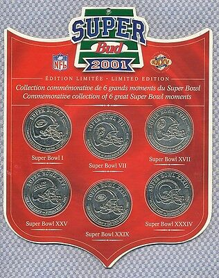 Commemorative Collection Of 6 Great Super Bowl Moments
