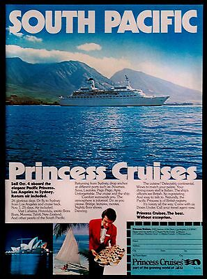1976 South Pacific Princess Cruise Lines Magazine Print Ad