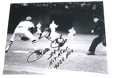 Pete Rose Hand Signed 8X10 Fenway Park Photo With Proof
