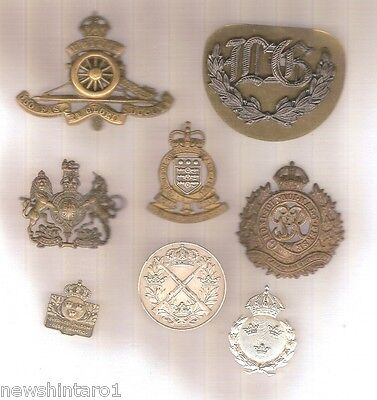 #d30. Lot Of Eight Military Badges, Shooting Medals Etc