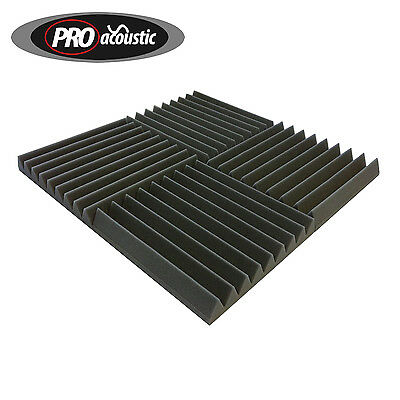 "8x AFW305 Pro Acoustic Foam Tiles 12"" 305mm Sound Treatment Professional Studio"