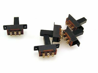 SSW2 Mini Slide Switch DPDT 22mm FC 15mm x 7mm x 7mm 5 pieces OM0552