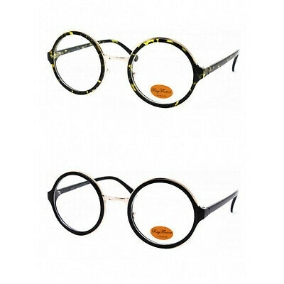 Big Round Clear Lens Tortoiseshell/Black Geek Glasses Steampunk Wally Hipster