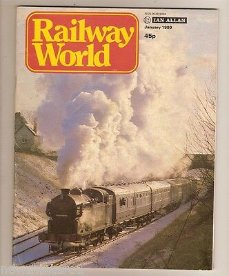RAILWAY WORLD MAGAZINES - 12 ISSUES, JAN to SEPT 1980, OCT to  DEC 1977