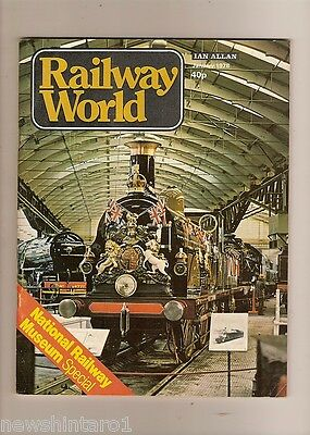 1978  RAILWAY WORLD MAGAZINES - 12 ISSUES, JANUARY  to  DECEMBER