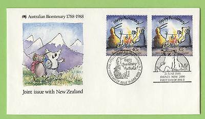 Australia/New Zealand 1988 Bicentenary of Settlement Joint Issue First Day Cover