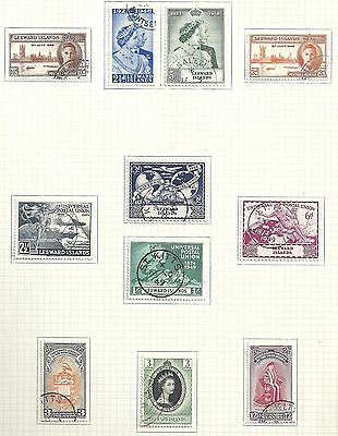 Leeward Islands collection of 11 stamps  HIGH VALUE!