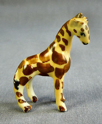 Vintage Miniature Hand Painted Porcelain Giraffe Figurine Unknown Maker