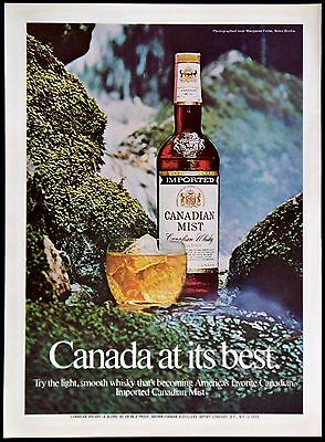 1974 Canadian Mist Blended Whiskey Brown-Forman Distillers Magazine Print Ad