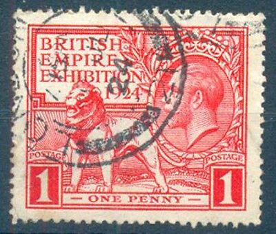 GB KGV 1924 1d. EXHIBITION FINE USED (ID:291/D20809)