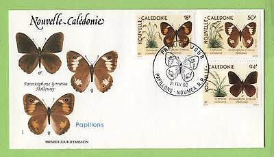 Fr. New Caledonia 1990 Butterflies set on First Day Cover