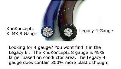 KnuKonceptz KCA TRUE 8 Gauge Amp Install Kit Larger then Legacy 4 AWG
