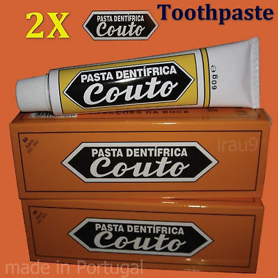 2 X Medicinal Couto Toothpaste Prevent Caries and other Problems of the Mouth
