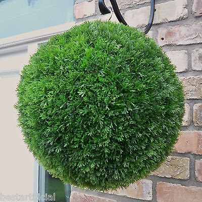 Best Artificial 28cm Conifer Topiary Ball alt Boxwood Buxus Grass Hanging Basket
