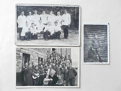 three photograph of french prisoners of war  named grouping