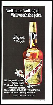 1971 Old Fitzgerald Kentucky Straight Bourbon Whiskey Magazine Print Ad