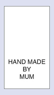 200 Hand Made By Mum Sewing Washing Care Labels  Code PRNT0032